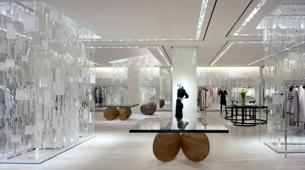 Bloor West Village showing shopping, interior views and fashion