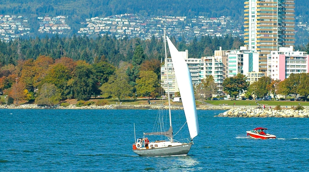 Kitsilano featuring sailing, a coastal town and rugged coastline