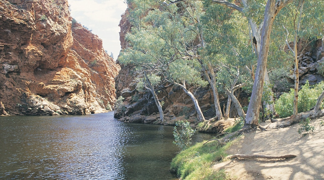 Alice Springs featuring a gorge or canyon and a lake or waterhole