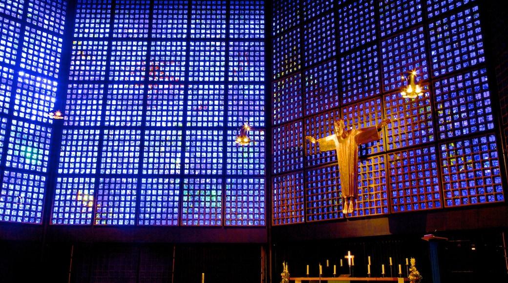Église du Souvenir de Berlin montrant aspects religieux, église ou cathédrale et vues intérieures