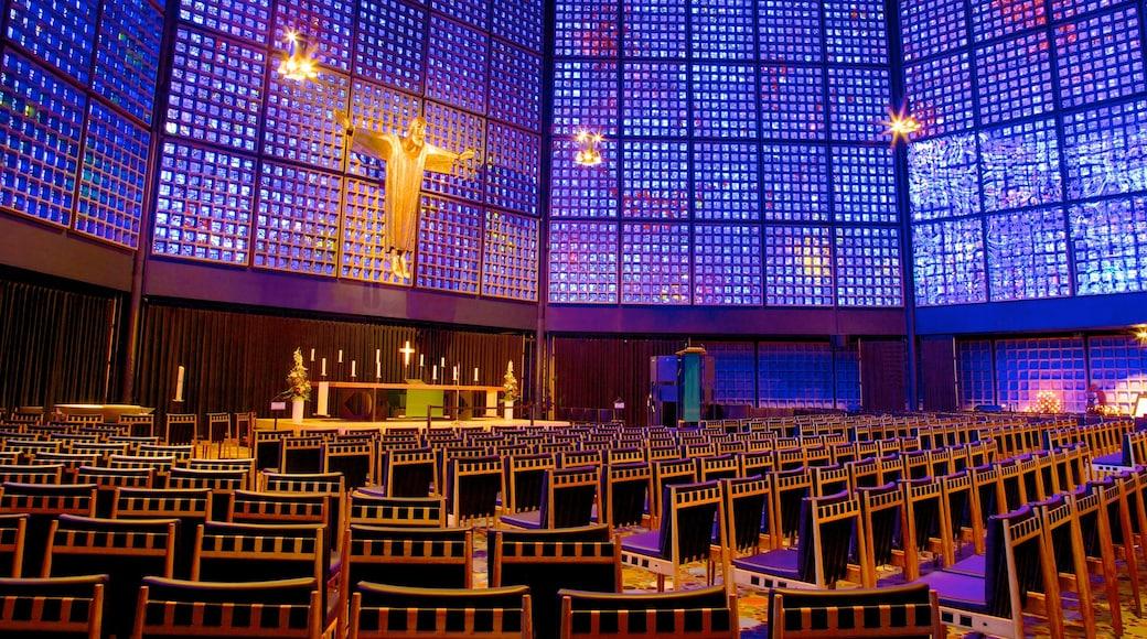 Église du Souvenir de Berlin qui includes église ou cathédrale, vues intérieures et aspects religieux