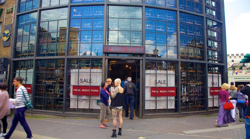 Camden Town presenterar shopping och modern arkitektur