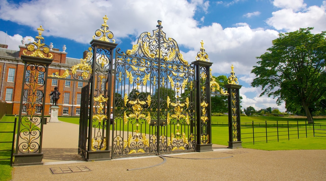 Kensington Palace featuring chateau or palace, heritage architecture and a garden