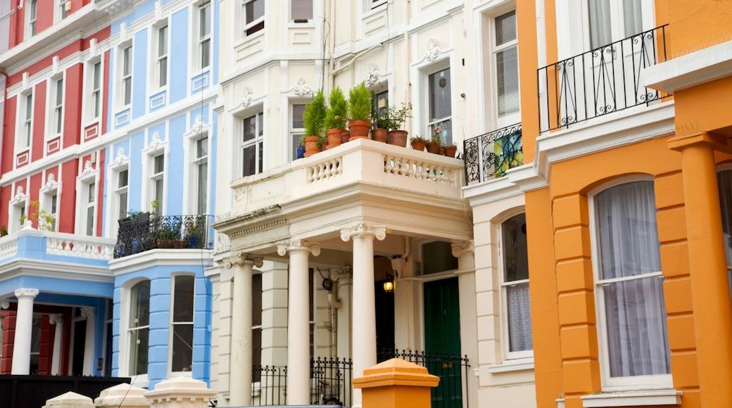 Notting Hill inclusief een stad, historische architectuur en een huis