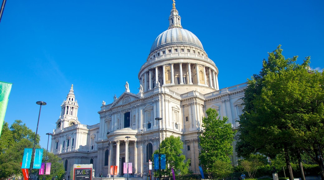 St. Paul\'s Cathedral which includes heritage architecture and a church or cathedral