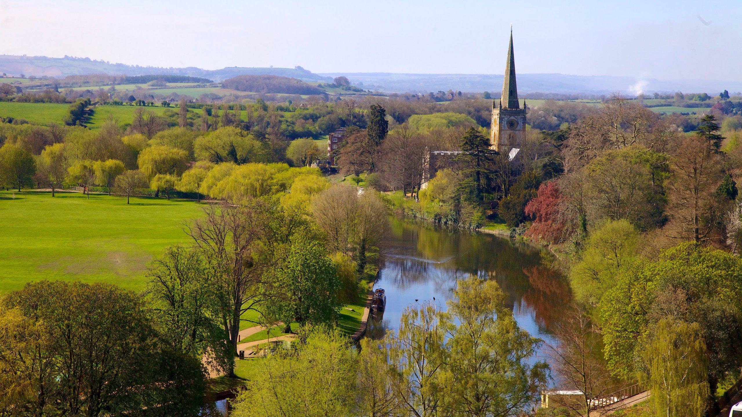 Centro da cidade, Stratford-upon-Avon, Inglaterra, Reino Unido