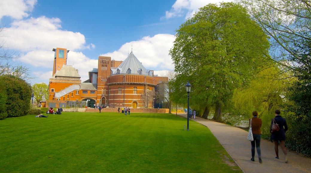Birmingham featuring a park and theatre scenes