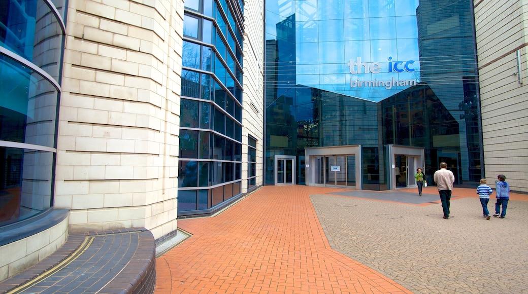 International Convention Centre som inkluderer moderne arkitektur