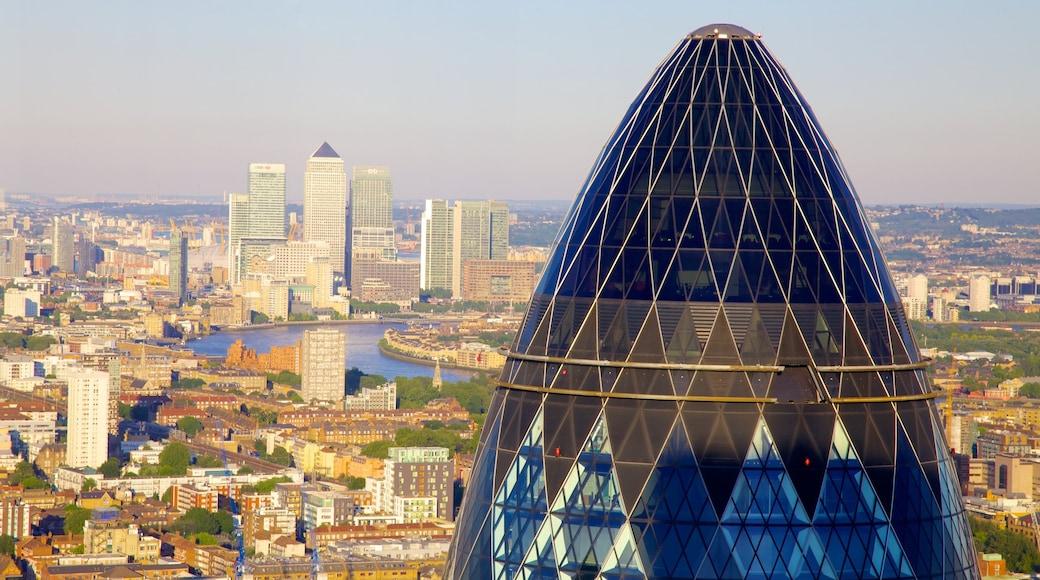 The Gherkin mit einem Skyline, Stadtansicht und moderne Architektur