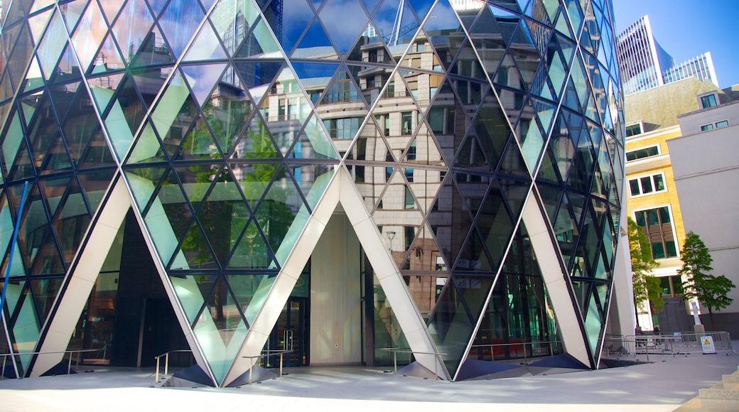 The Gherkin mit einem moderne Architektur und Stadtansicht
