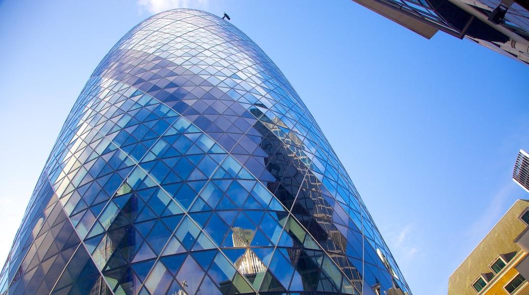 The Gherkin das einen Wolkenkratzer, CBD und moderne Architektur