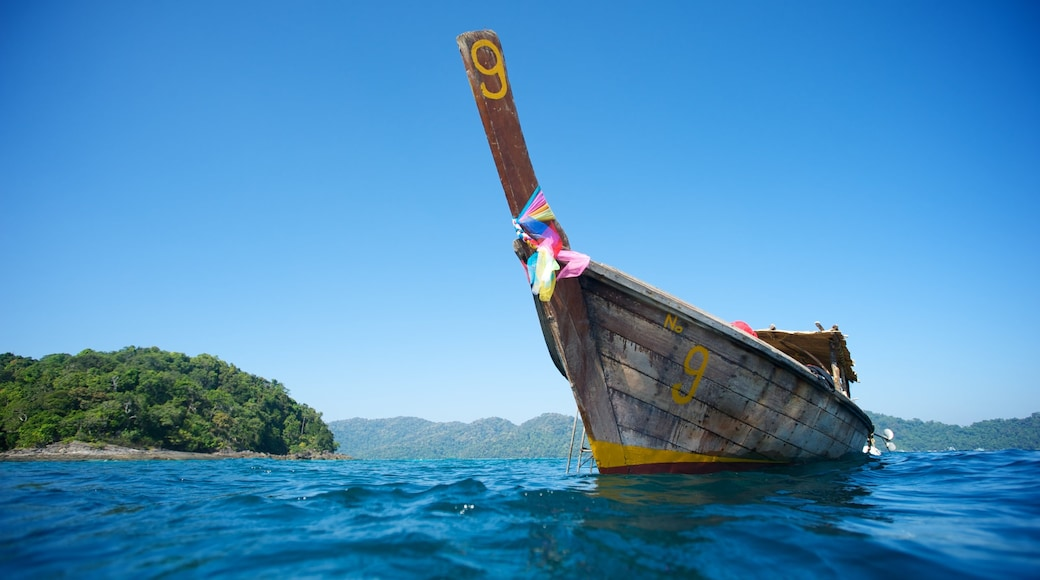 Ko Surin National Park which includes boating and general coastal views