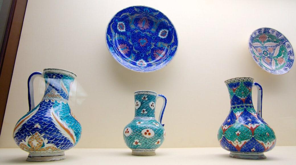 Gulbenkian Museum featuring art and interior views