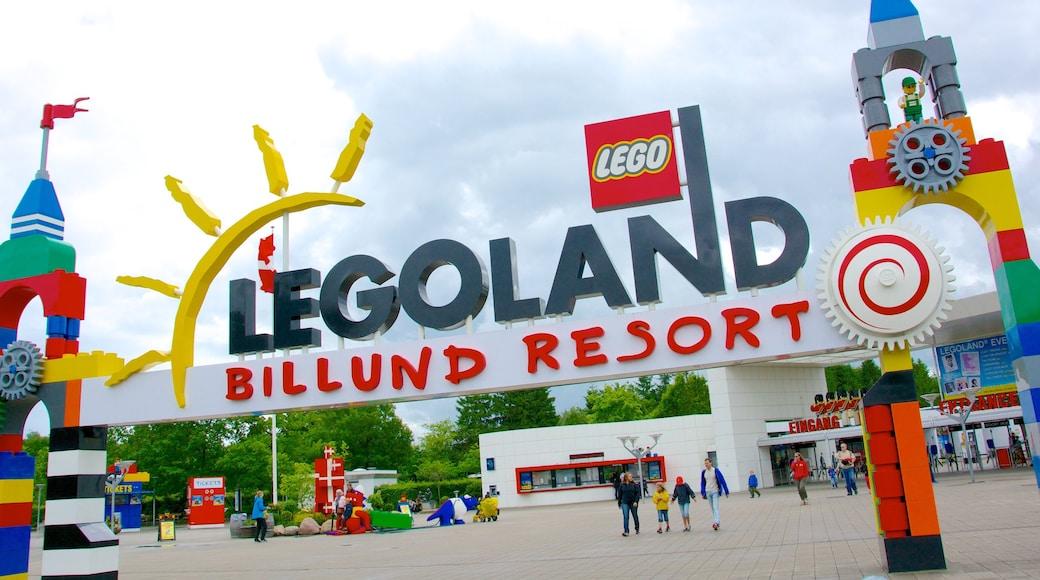 Legoland fasiliteter samt skilt