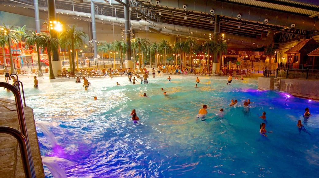 Lalandia og byder på en pool, interiør og et vandland