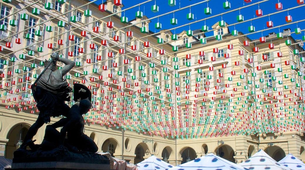 Torino caratteristiche di arte urbana, piazza e statua o scultura