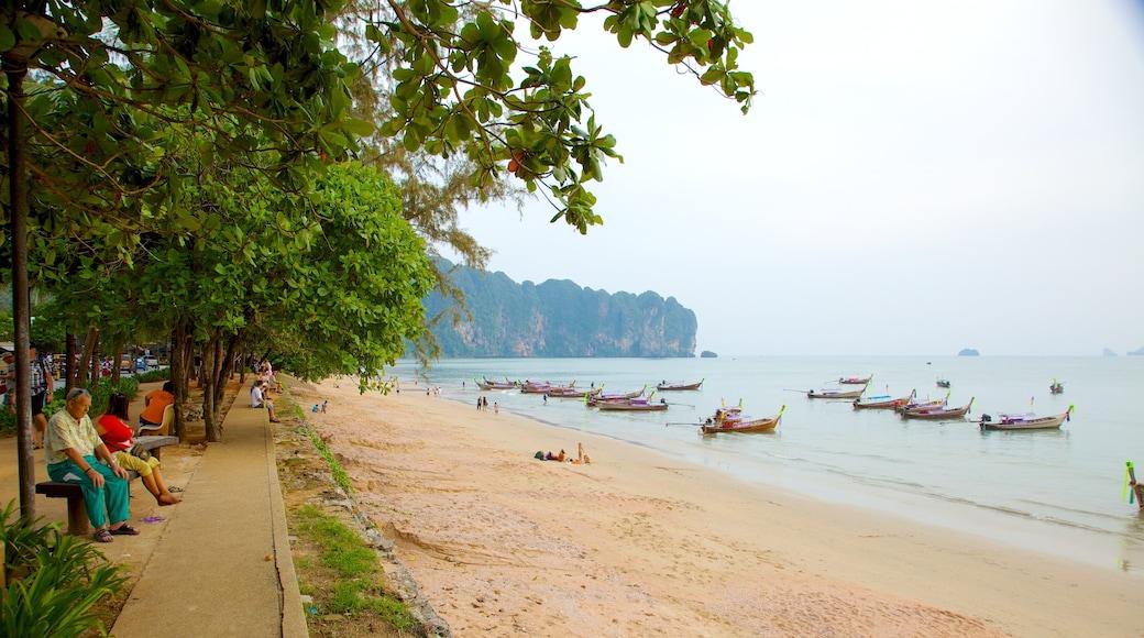 Ao Phra Nang Beach featuring boating, general coastal views and a beach