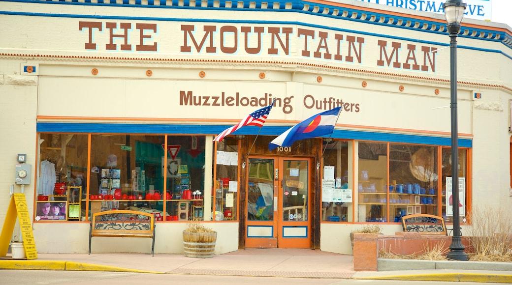 Manitou Springs das einen Kleinstadt oder Dorf und Beschilderung
