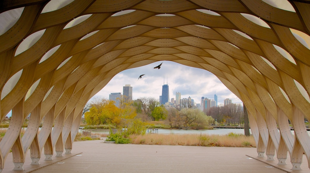 Lincoln Park caracterizando uma cidade e arquitetura moderna