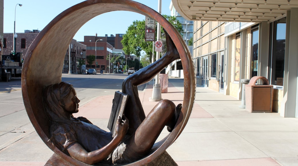 Sioux Falls featuring outdoor art and a city