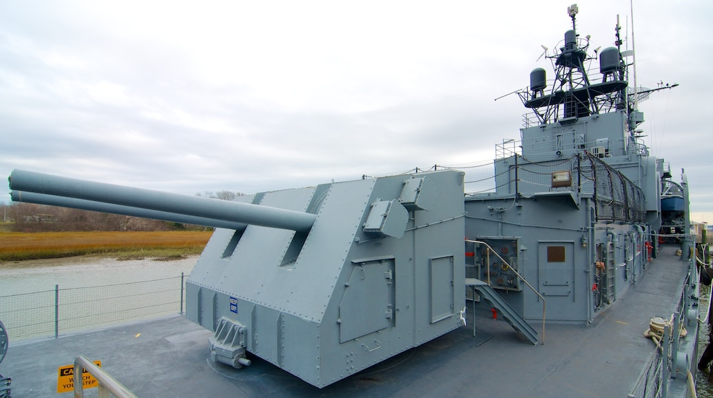 Patriots Point which includes military items