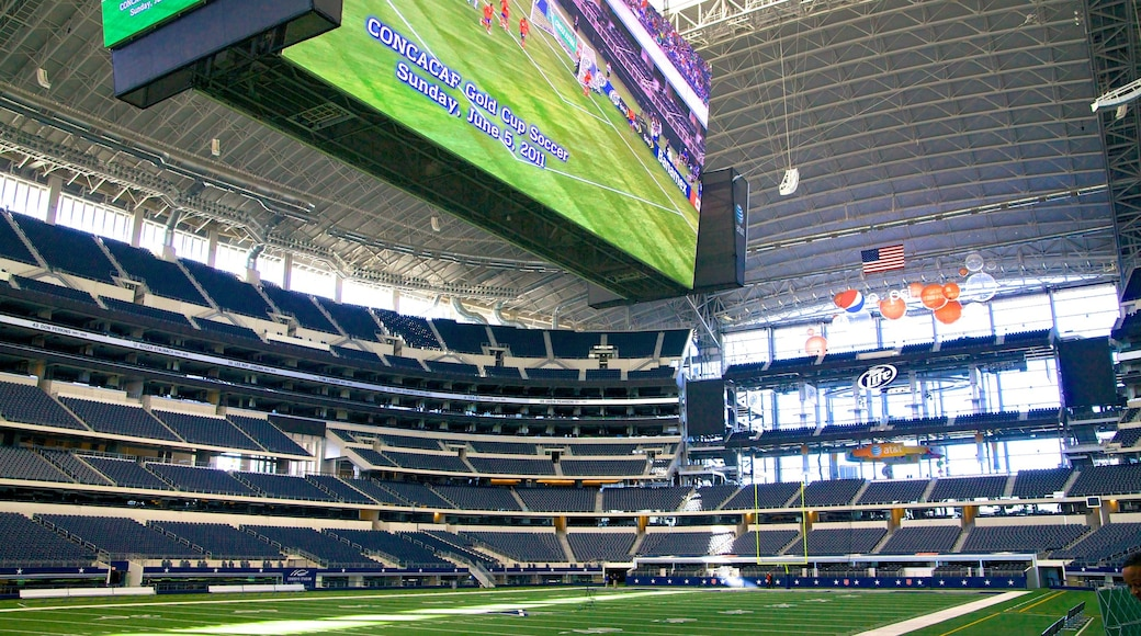 AT&T Stadium which includes interior views