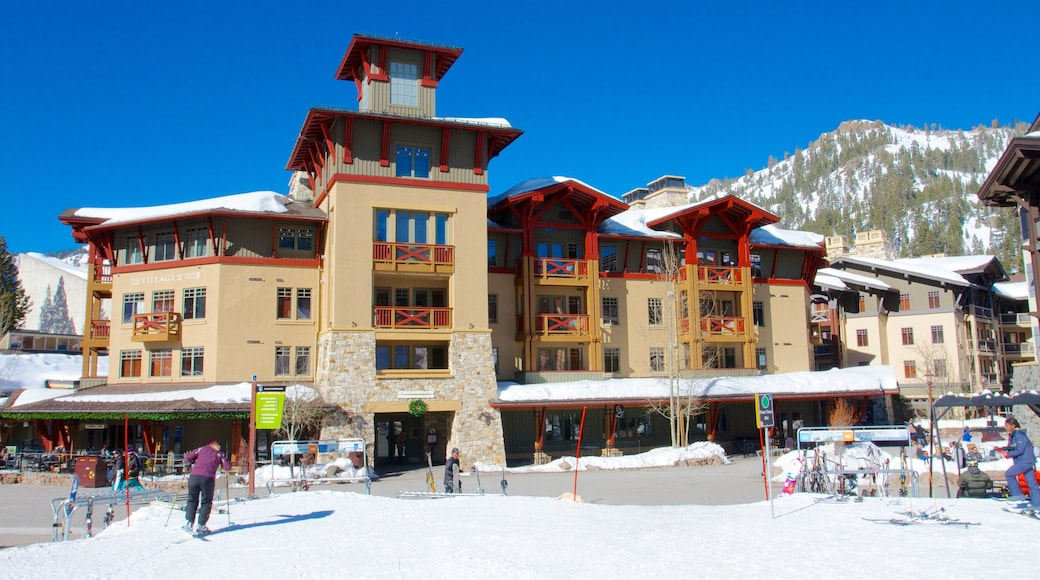 Squaw Valley Resort featuring snow and a luxury hotel or resort