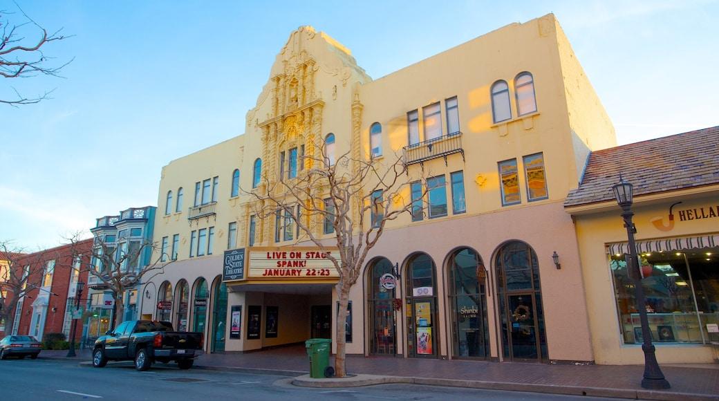Golden State Theater som omfatter en by og teaterliv