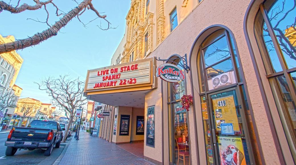 Golden State Theater og byder på skiltning og teaterliv