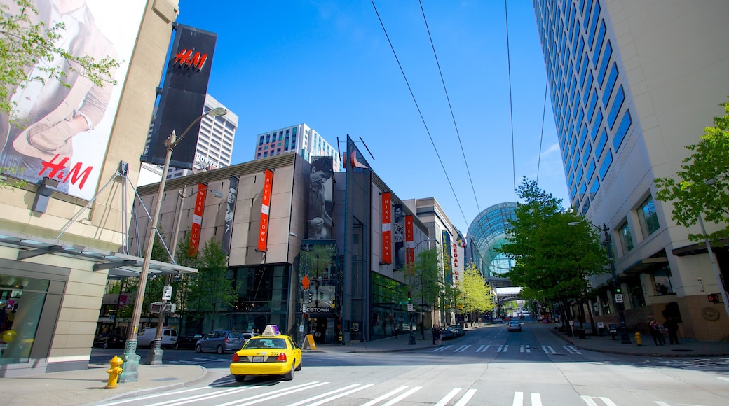 Washington State Convention Center featuring cbd, modern architecture and a city