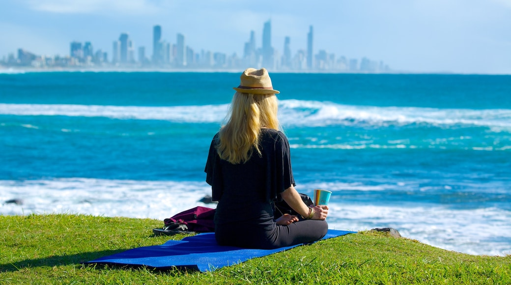 Burleigh Heads showing general coastal views, a coastal town and a day spa