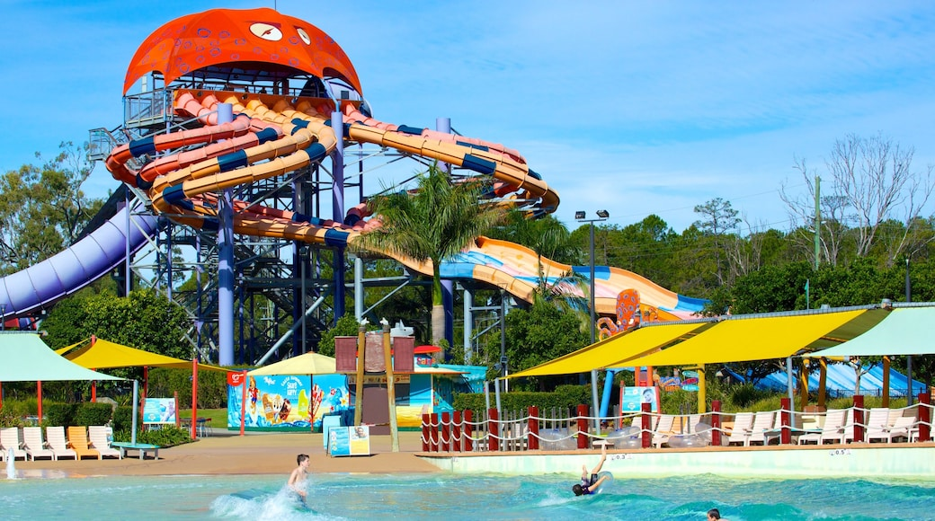 WhiteWater World showing a water park and a pool