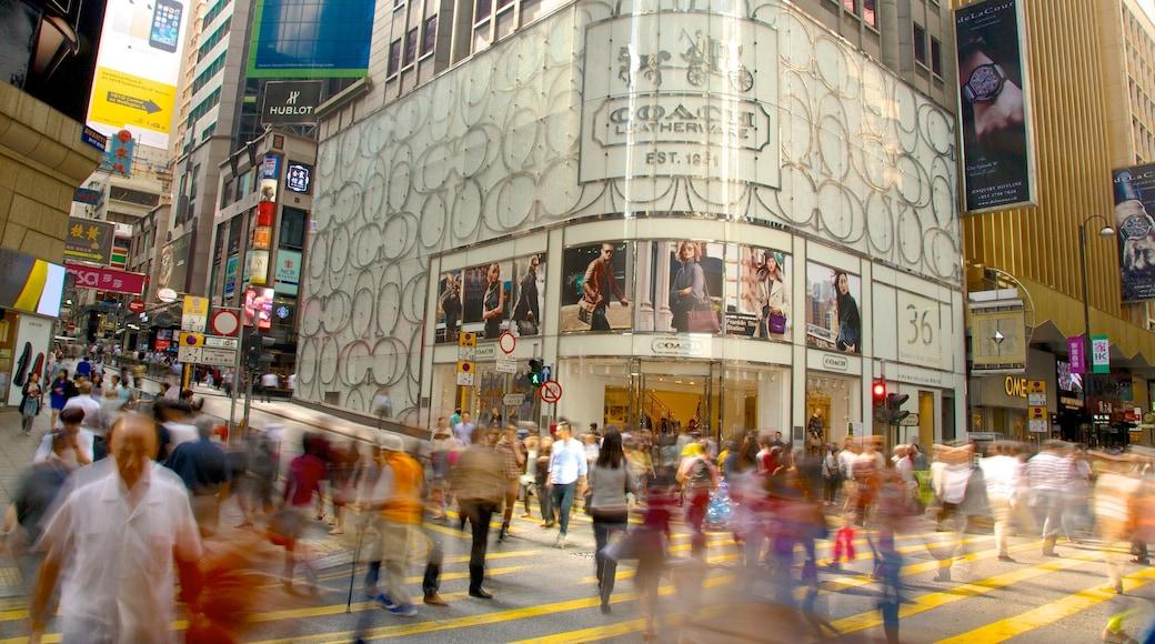 蘭桂坊 设有 指示牌, 街道景色 和 城市