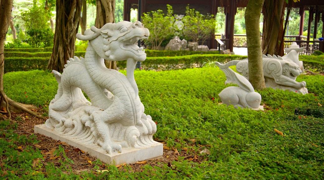 九龍城城市公園 设有 雕像或雕塑 和 花園