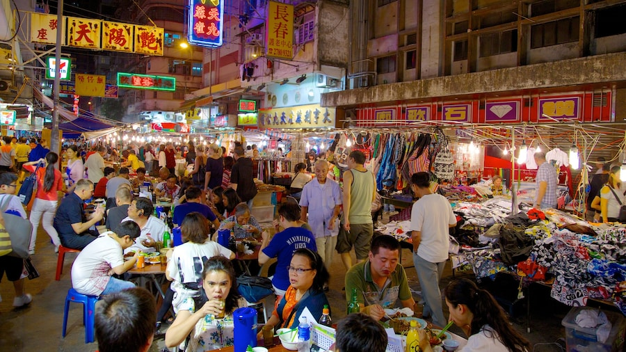 Kowloon featuring street scenes, a city and outdoor eating
