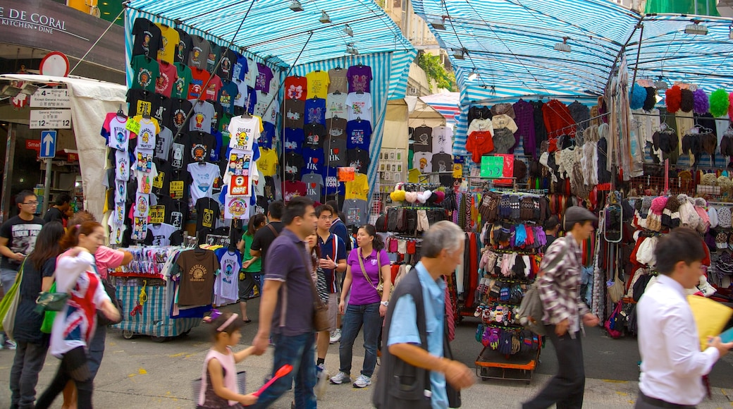 女人街 呈现出 指示牌 和 市場