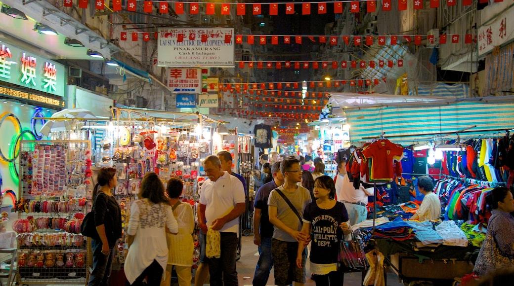 廟街 设有 市場 和 夜景