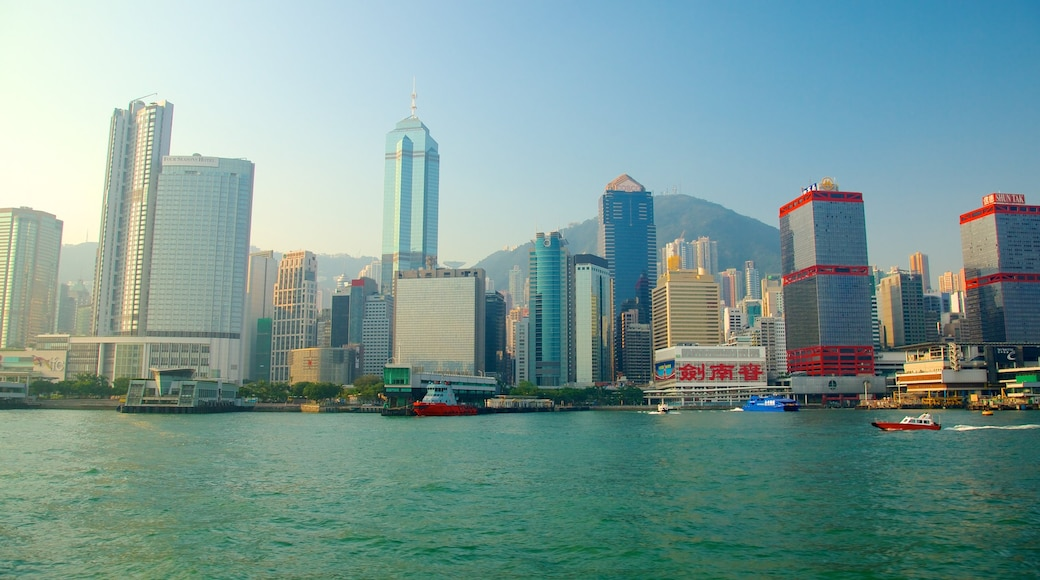 Victoria Harbour featuring a city, boating and central business district