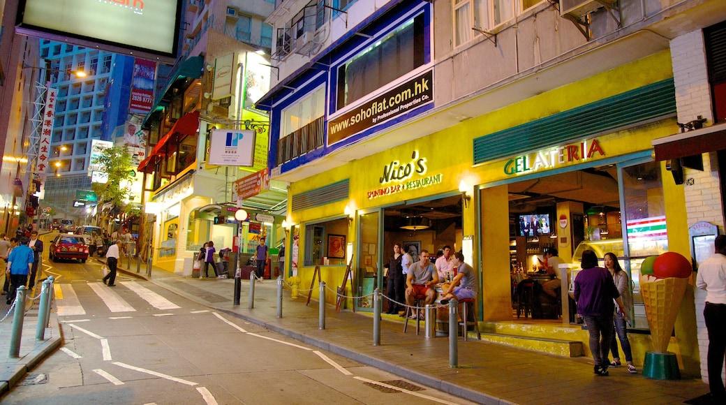 蘇豪區 其中包括 城市, 夜景 和 購物