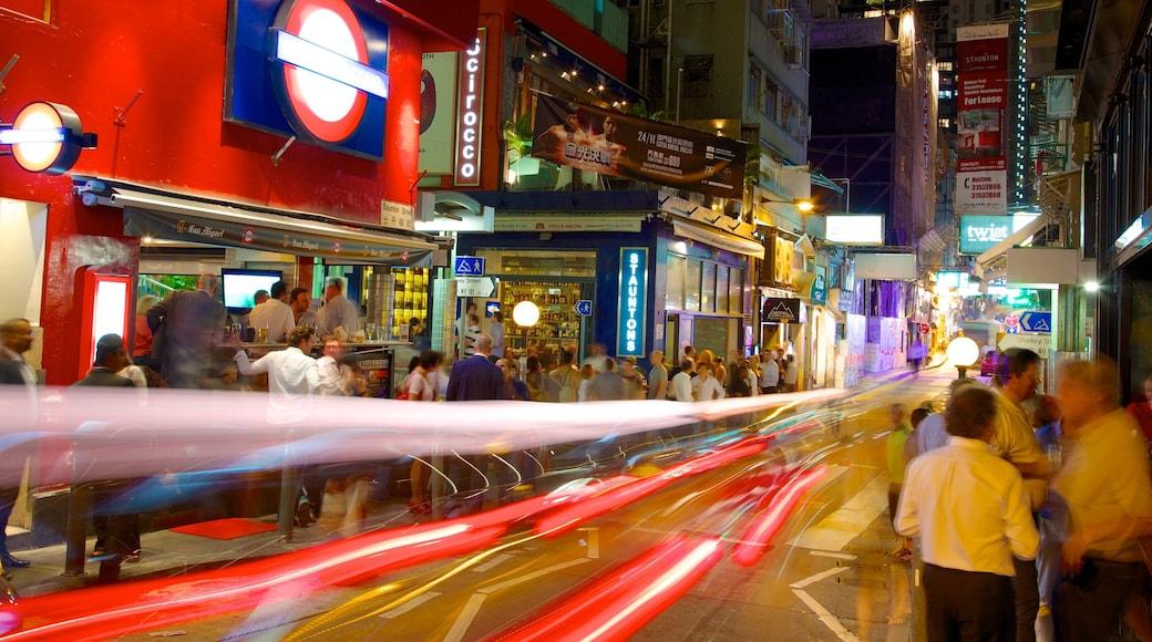 蘇豪區 设有 夜景, 城市 和 夜生活