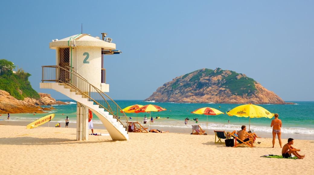 Shek O Beach showing views, general coastal views and a beach