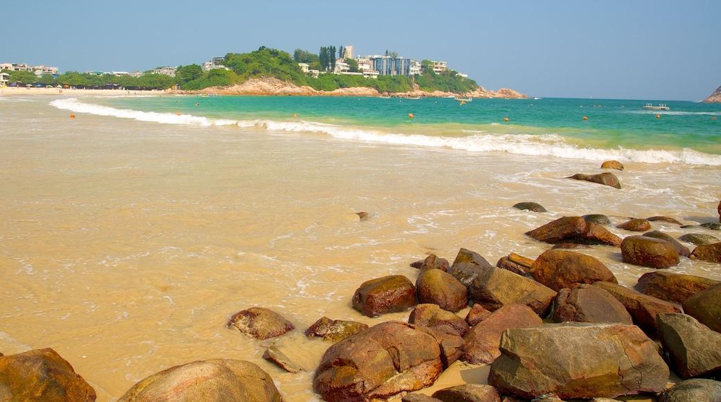 Shek O Beach featuring a sandy beach and general coastal views