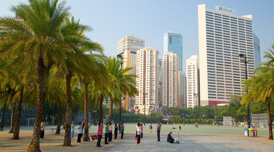 Victoria Park which includes a city, a skyscraper and city views