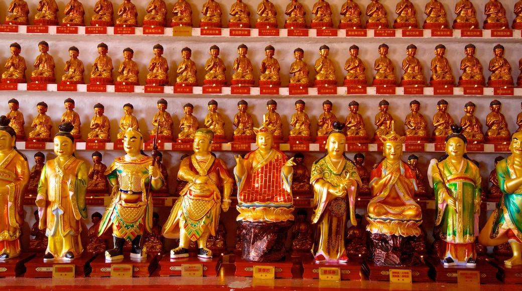 Ten Thousand Buddhas Monastery featuring interior views, religious aspects and a temple or place of worship