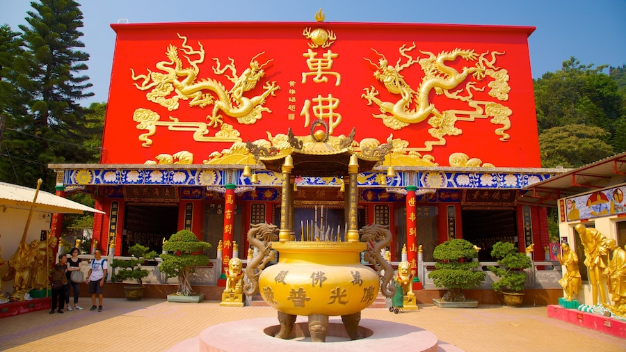 Ten Thousand Buddhas Monastery which includes religious elements and a temple or place of worship