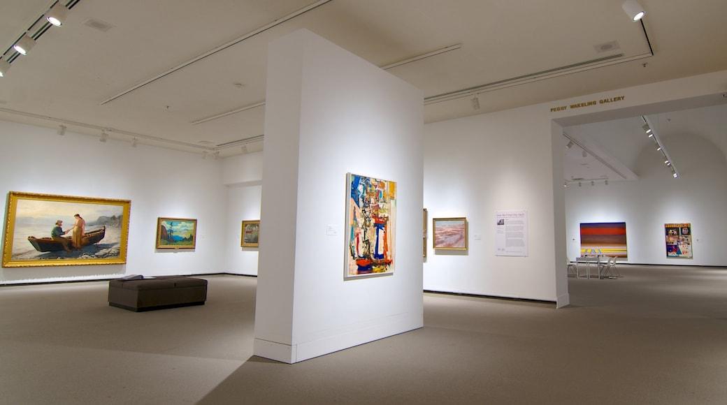 Mackenzie Art Gallery showing interior views and art