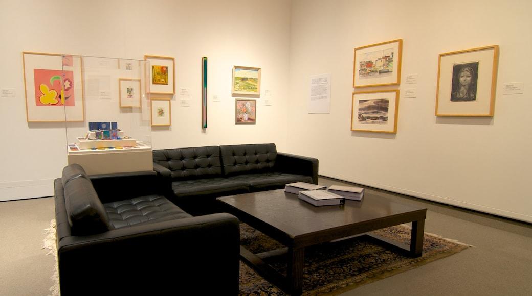 Mackenzie Art Gallery featuring art and interior views