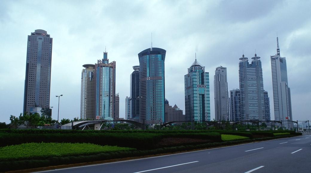 上海 设有 天際線, 城市 和 摩天大樓