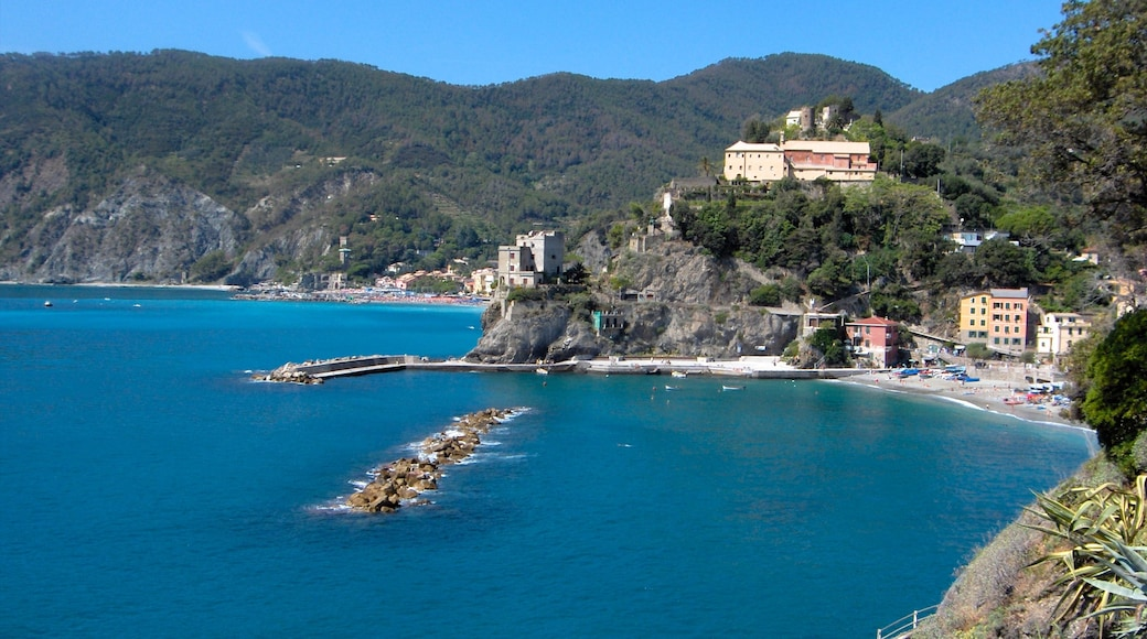 Cinque Terre - La Spezia which includes a coastal town, a bay or harbour and mountains