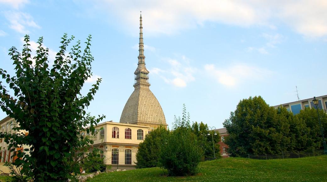Mole Antonelliana qui includes parc, église ou cathédrale et patrimoine architectural